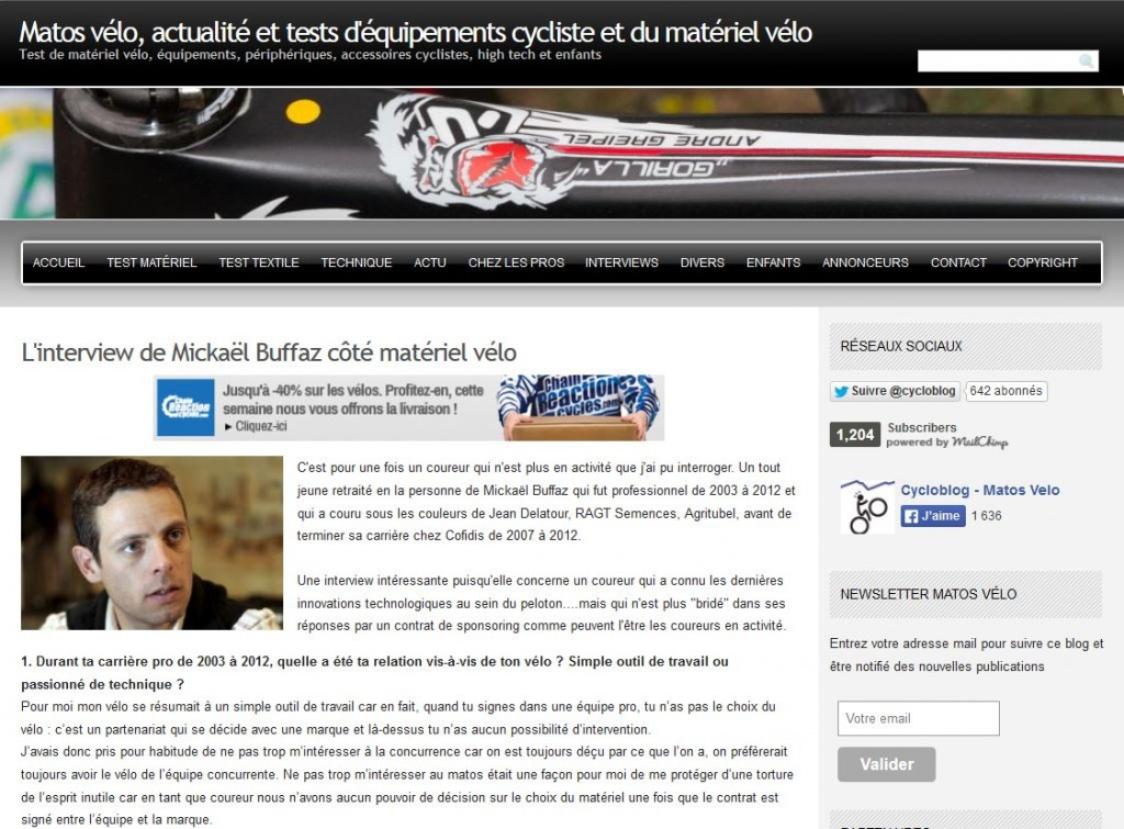 matos velo article
