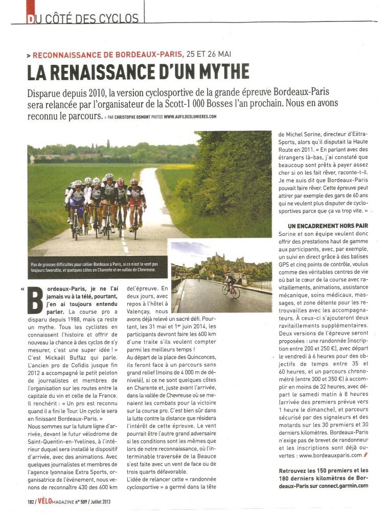 Article VéoMagazine juillet 2013