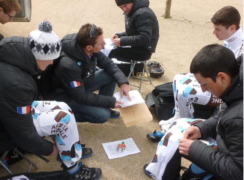 Briefing d'équipe.