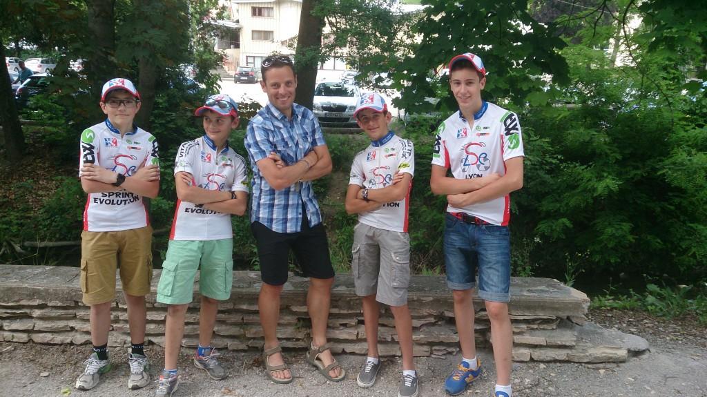 Moment de complicité avec les jeunes du Lyon Sprint Evolution.